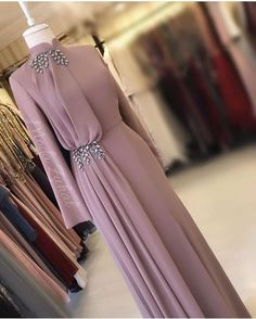 Fashion Dresses Formal Chic Source by fashion muslim Hijab Evening Dress, Hijab Dress Party, Hijab Style Dress, Evening Dresses, Hijab Gown, Blue Dress Outfits, Abaya Style, Prom Dresses Long With Sleeves, Modest Dresses