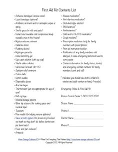 Just grabbed my copy of this free printable first aid kit contents list, so I make sure I have what my family needs for minor medical emergencies. {courtesy of Home Storage Solutions 101}