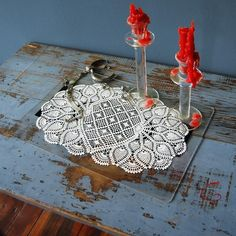 shabby chic, upcycled placemats