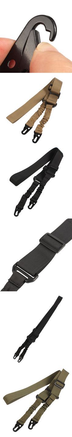 Heavy Duty Tactical Military 2 Points Nylon Rifle Gun Sling Adjustable Gun Sling Gun Rope Type B Gun String for Hunting Games