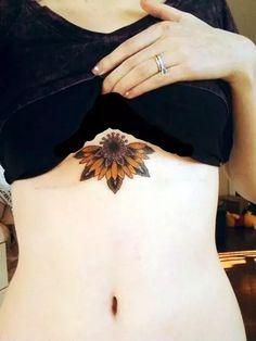 Underboob Tattoos Designs for Women (45)