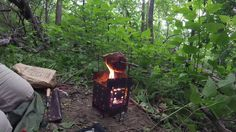 Testing out the CoffeySpit for my Firebox Stove