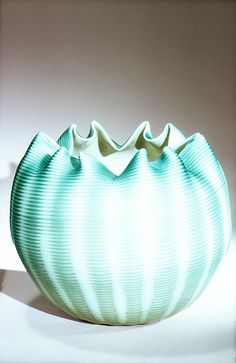 circa 1887 blown satin glass Rose Bowl made by Stevens and Williams
