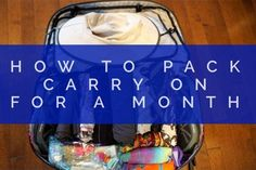 Packing Carry On