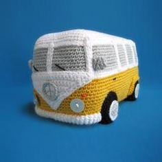 Amigurumi VW Camper Van Bus Volkswagen Inspired by Millionbells Crochet Amigurumi, Amigurumi Toys, Amigurumi Patterns, Crochet Toys, Crochet Patterns, Crochet Car, Half Double Crochet, Single Crochet, Van Hippie