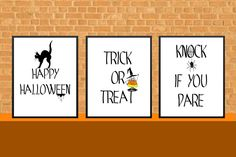 Halloween Printable,  Instant Download, Halloween Print, 8x10, Decor Wall, Happy Halloween Sign,Trick or Treat Print, Halloween Party Decor by LoveMessagesXO on Etsy