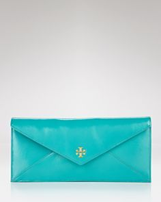 Tory Burch clutch! I am loving this color for spring
