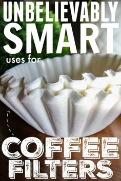 There are so many great and creative ways to use coffee filters around your home! They can be used for cleaning, organizing, and even home decor!