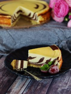 Cheesecake, Deserts, Food And Drink, Dishes, Baking, Sweet, Recipes, Bread Baking, Plate