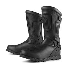 Icon 1000 Prep Stealth Motorcycle Boots Touring Boots Size 45 waterproof NEW Leather Motorcycle Boots, Biker Boots, Motorcycle Gear, Combat Boots, Motorbike Clothing, Cheap Boots, Riding Gear, Boots For Sale, Waterproof Boots