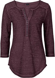Shirt im Used-Look Best Leggings For Women, T Shirts For Women, Clothes For Women, Mom Outfits, Casual Outfits, Flirt, Piece Of Clothing, Long Tops, Sweater Shirt
