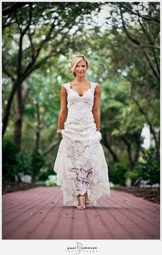 Wedding Dress - Lace - I like the idea of lace, but as like an outer layer.