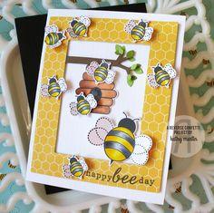 Happy Bee Day - Reverse Confetti - Scrapbook.com