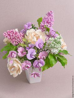 Fondant Flowers, Sugar Flowers, Fake Flowers, Artificial Flowers, Very Beautiful Flowers, Beautiful Flower Arrangements, Floral Arrangements, Polymer Clay Flowers, Ceramic Flowers