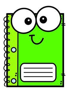 School Suplies, Door Hanger Template, School Clipart, Colouring Pics, Cartoon Background, 1st Day Of School, Class Decoration, Cricut Tutorials, Binder Covers
