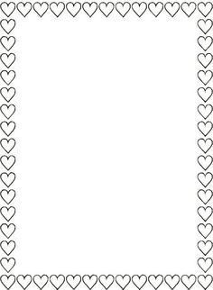 black white heart border