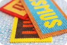 hama bead name plates