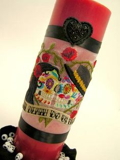 day of the dead wedding ideas | This Day of the Dead design puts a different spin on a wedding unity ...