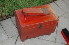 Vintage Shoe Shine Box at Retro Daisy Girl. $22.00, via Etsy.