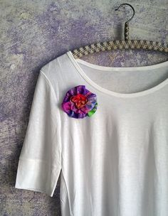 Hey, I found this really awesome Etsy listing at https://www.etsy.com/uk/listing/246990790/red-violet-sewn-flower-brooch-fun-funky