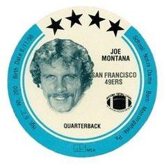 Joe Montana 1981 MSA Holsum Discs (Blank Back)