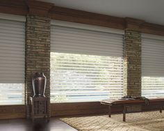 Silhouette® Window Shadings by Hunter Douglas. The sheer fabric in front and back of the signature floating s-vanes protect from harmful uv-rays. This helps stop fabrics, furniture, artwork, carpet, and flooring from fading. At Beyond Shades we call that beauty protecting the beautiful.