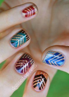 China Glaze On Safari chevron nail art