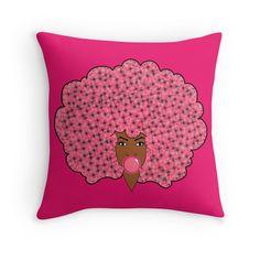 Bubble Gum Fly Pillow
