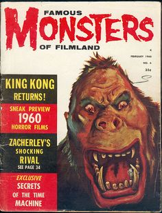 FAMOUS MONSTERS OF FILM LAND FEB 1960 King Kong cover by hollywoodgorillamen.com, via Flickr