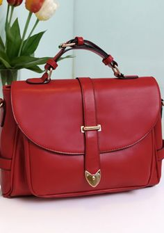 Women's vintage candy color PU Postman bags cross-body shoulder bags online - vessos.com