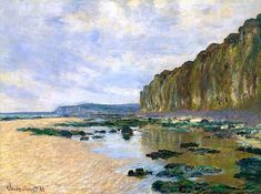 """bofransson: """" Claude Monet Low Tide at Varengeville 1882 """""""