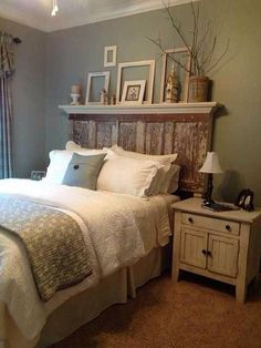 Rustic door headboard