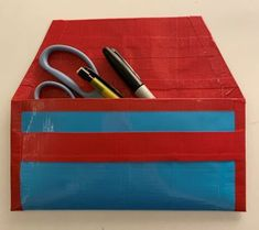 DIY Horizontal Duct Tape Pencil Case Back To School Crafts For Kids, Back To School Activities, Diy For Kids, Duct Tape, Have Some Fun, Paper Plates, School Projects, School Supplies, Coloring Pages