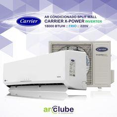 """Preço e mais informações: http://www.arclube.com.br/ar-condicionado-split-wall-carrier-x-power-inverter-18000-btu-h-frio-220v.html  >> Ar Condicionado Split Wall Carrier X-Power Inverter 18000 btu/h Frio 220v  """"Com uma das menores evaporadoras do mercado e design clean, a Split Wall Carrier X-Power combina com sua casa, escritório ou comércio."""""""