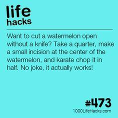 Cut A Watermelon Like A Ninja