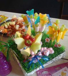 Fruit bloemen. Kinder high tea  bij de Steinsetuin.nl