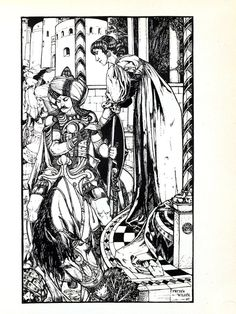 We'd love to see these illustrations from 'Yellow Book' (1894-1897) full of color! #ColorOurCollections #Victorian