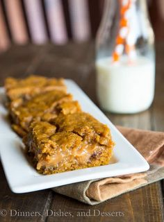 Pumpkin Caramel Layer Bars