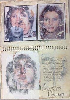Unit 4, imagery development in sketchbook, Emma