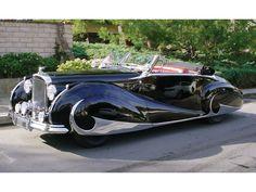 Bentley MkVI Cabriolet (1950) Carrosserie Franay à Levallois-Perret. Le dessin est très daté en 1950...