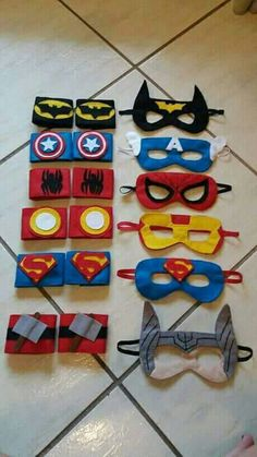 Superhero Mask Avengers Batman Spiderman Batman Bat Girl Boys Girl Captain America party bag Handmade and hand embroidered Avengers Birthday, Superhero Birthday Party, Batman Party, Superhero Party Favors, Boy Birthday, Birthday Parties, Costume Super Hero, Super Hero Masks, Felt Crafts
