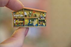 Tiny TINY house with micro mini furnishings Miniature Crafts, Miniature Houses, Miniature Dolls, Mini Doll House, Tiny House, Vitrine Miniature, Tiny World, Tiny Treasures, Miniture Things