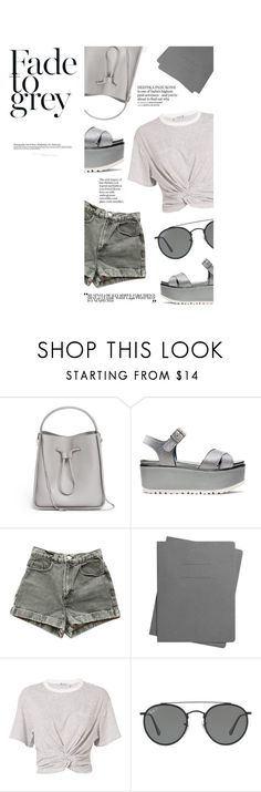 """Untitled #222"" by rerinm ❤ liked on Polyvore featuring 3.1 Phillip Lim, Stuart Weitzman, American Apparel, Shinola, T By Alexander Wang, Ray-Ban, monochrome, grey, CasualChic and gray"