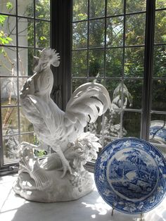 Love the white rooster...Kitchen Accessories