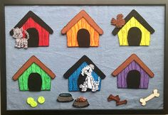 Mouse-House esque flannel for dogs! Little dog, little dog, come out and play... Flannel Board Stories, Felt Board Stories, Flannel Boards, Fine Motor Activities For Kids, Preschool Games, Preschool Crafts, Friday Dog, Sharpie Colors, Flannel Friday