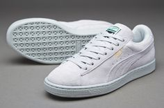 Puma Young Women Suede Classic - Glacier Grey - Haven't had white shoes since middle school, could I keep them clean?!