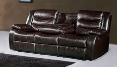 Gramercy Brown Leather Reclining Sofa