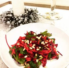 This salad is made season versatile through its combination of textures and flavours. The orzo gives it a warm comforting taste ideal for winter. Whilst the ba Orzo Salad, Cobb Salad, Beetroot, Bruschetta, Warm, Winter, Ethnic Recipes, Food, Winter Time