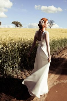 Mae by Johanna Hehir, vintage inspired silk and lace wedding dresses