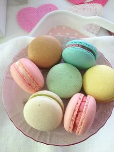 yummy and cute like love eat x' ♥ macarons all colours of the rainbow